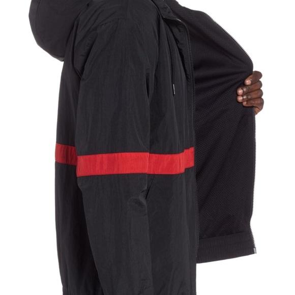 Nike Air Jordan Wings Anorak Pullover Windbreaker Black SZ 2XL Jacket 942729-011